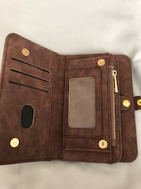iPhone 8 leather wallet case