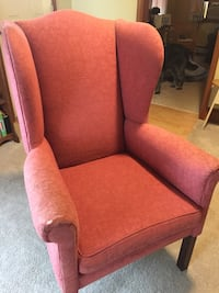 Wing Back Chair. Light red in color  Great condition. Only wear spot is on the arm as pictured Boyertown, 19512