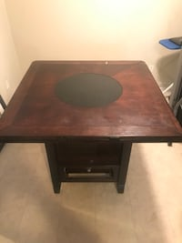 brown wooden single pedestal desk Greensboro, 27406