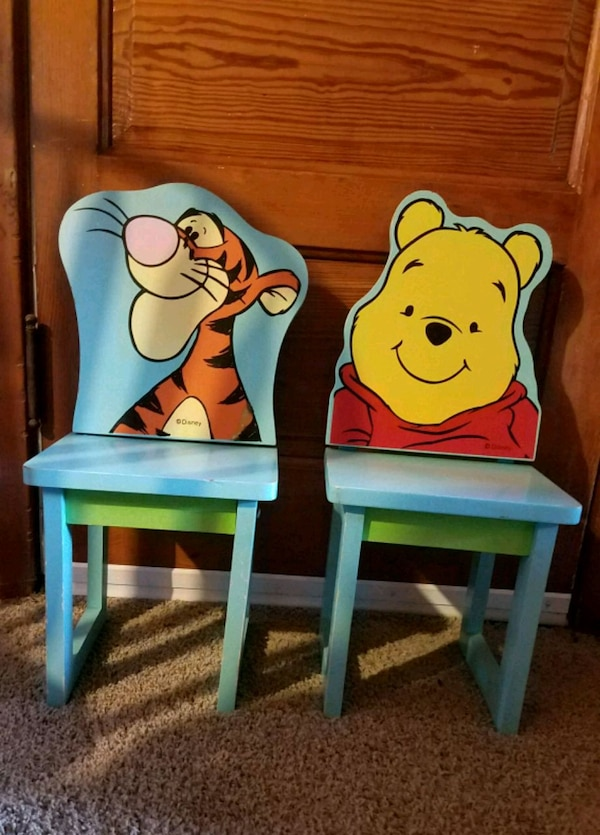 Peachy Vintage Disney Wooden Chairs Winnie The Pooh Andrewgaddart Wooden Chair Designs For Living Room Andrewgaddartcom