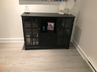 Black sideboard with space for storage, bottles and hanging glasses Laval, H7T 0C6