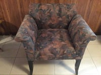 brown and green floral fabric sofa chair Stoney Creek, L8G 4W6
