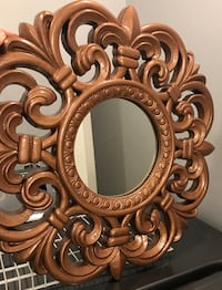 brown wooden framed wall mirror Powell, 37849