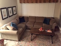 Cloth Sectional Sofa w/ Full Pull Out New Braunfels, 78130
