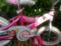 pink and white bicycle with training wheels Saint Petersburg, 33705