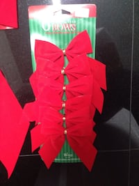 Brand New XMAS red bows