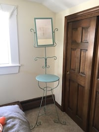 blue metal mirror and end table Bristol, 02809
