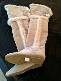 New Aldo Over the Knee Suede Boots Size 6 Surrey