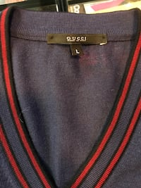 Authentic Gucci Navy/Red Cardigan