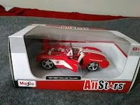red and white Hot Wheels die cast model Murfreesboro, 37128