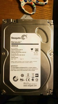 3tb seagate barracuda hdd works formatted.45$ paid over 200 when I got Barrie, L4N 1S4