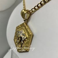 10K gold pentagon Versace chain set Mississauga