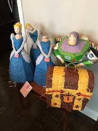 5 Disney Paper Mache Piñata  3 Cinderella   1 Buzz Lightyear  I Treasure Chest  All offered for only $50  Toronto, M5P 2V5