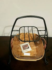 Longaberger basket with iron stand Fairfax, 22033