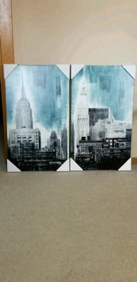 two empire state building painting