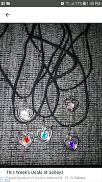 Heart Necklaces. Each