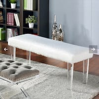 Faux fur bench with acrylic leg Mississauga, L5B