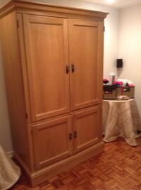 Brown wooden armoire Toronto, M2R 3N5