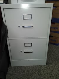 white metal 2-drawer filing cabinet FAIRFAX