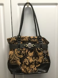 Black & Brown Tapestry Bag