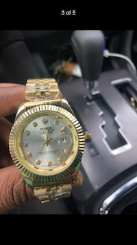 round gold Rolex analog watch with link bracelet Baton Rouge, 70816