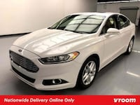 2014 *Ford* *Fusion* SE sedan White Houston