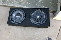 black and gray Kicker subwoofer speaker Long Beach, 90813