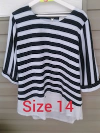 Striped Top- Size 14