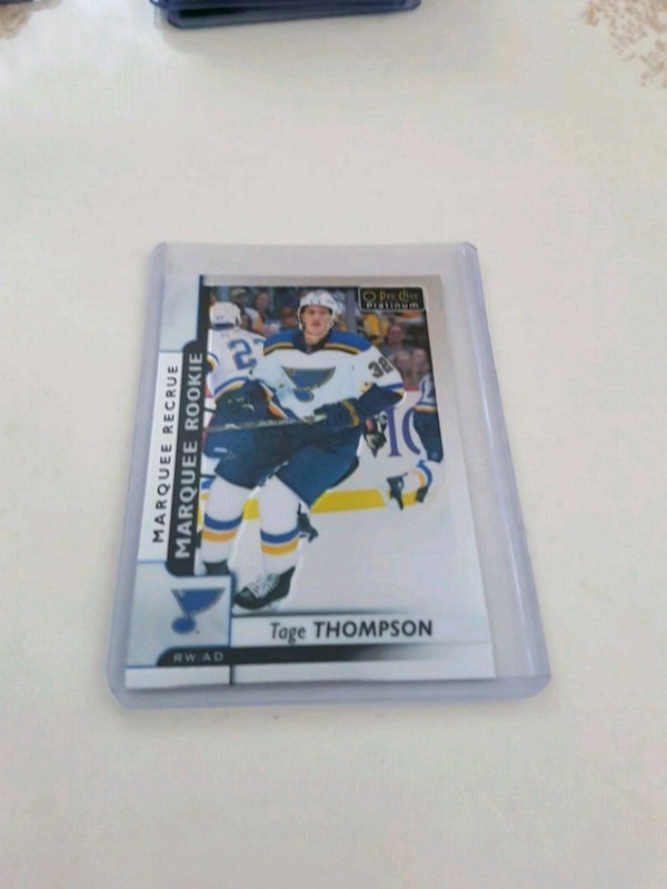Tage Thompson Rookie Hockey Card