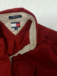 red Tommy jacket. fits small-medium. Vancouver, V5S 2N8
