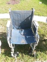 blue and gray folding wheelchair Saint Petersburg, 33709