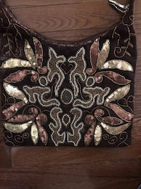 Brown sequin and beaded purse Little Flock, 72756