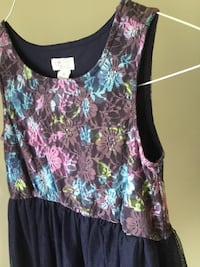 Adorable Navy Floral Dress size 8 (girls)  Toronto, M5M 1G5