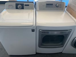 Samsung top load washer dryer set good working condition  warranty