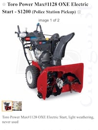 Toro Power Max #1128 OXE electric start  Germantown, 20874