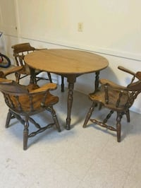 Wooden kitchen table and 3 chairs Middletown