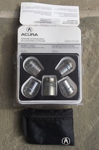 Genuine OEM Acura/Honda wheel locks Brampton, L6T