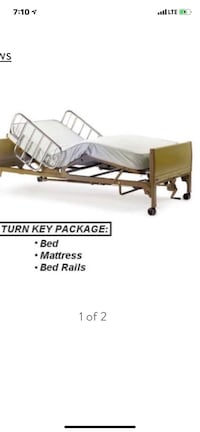 Hospital bed electric in great condition included mattress and rails