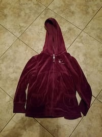 Girls purple velour heart jacket size 6 like new c Toms River, 08753