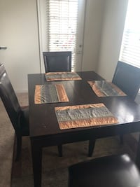rectangular brown wooden table with six chairs dining set Silver Spring, 20902