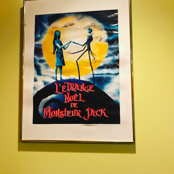 Nightmare Before Christmas In French.Nightmare Before Christmas Movie Poster French