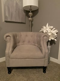 Deluca rolled arm accent chair- light grey Midvale, 84047