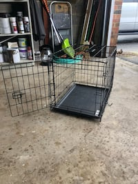 black metal folding dog crate Oakton, 22124
