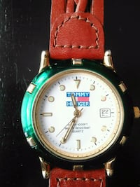 round gold analog watch with brown leather strap Halifax, B3P 2V1