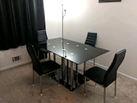 Contemporary Modern Black Dining Table and Chairs 48 km