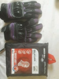 Women's Bilt motorcycle gloves and baclava 1945 mi