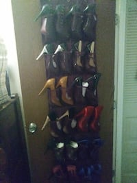 Over Door Shoe Holder w/ Shoes Or ALL Sold Seperat