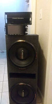 black Pioneer subwoofer with enclosure Dalton, 30721