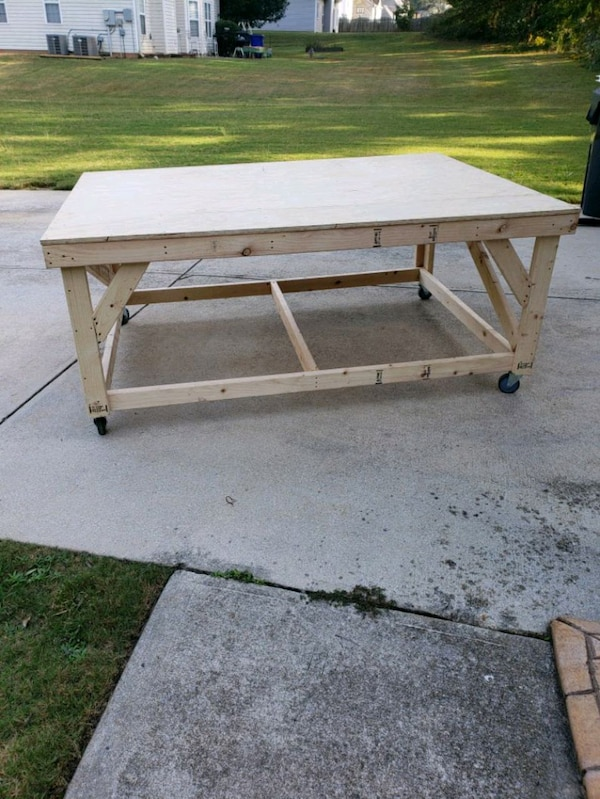 Sewing Table On Wheels.Work Table Art Table Sewing Table On Wheels