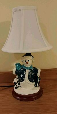 Christmas snowman lamp. Like new  Halton Hills, L7G 4B1